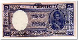 CHILE,5 PESOS,1958-59,P.119,XF-AU - Chili