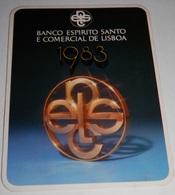PETIT  CALENDRIER DE LE BANQUE ESPIRITO SANTO E COMERCIAL DE LISBOA  - 1983 - Calendriers