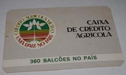 PETIT  CALENDRIER DE LE BANQUE CAIXA DE CREDITO AGRICOLA - 1989 - Calendriers