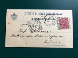 CATANIA ISTITUTO D'IGIENE SPERIMENTALE DELLA REGIA UNIVERSITA' DI CATANIA   1904 - Catania
