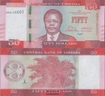 Liberia Pick-number: 34b Uncirculated 2017 50 Dollars - Liberia