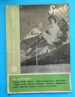 SPORT - Yugoslavia Sports Magazine (1952) * Olympic Games Oslo 1952 - Austria Football Team - Henri Cochet - Joe Louis - Kleding, Souvenirs & Andere