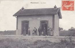 CPA 77 @ PENCHARD - LA GARE FERROVIAIRE - Ligne De Meaux à Dammartin En 1910 - Autres Communes