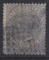 "MALAYA...."" STRAITS SETTLEMENTS..""..QUEEN VICTORIA..(1837-01).."" 1867 "".......6c.....SG13a........VFU. - Straits Settlements"