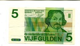 NETHERLANDS 5 GULDEN 1973 UNC 3.25 - [2] 1815-… : Kingdom Of The Netherlands