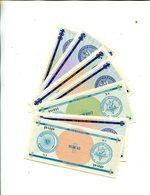 CUBA N/D SET TOURIST MONEY 1/3/5/10/20/50/100 PESOS UNC 7.95 - Cuba