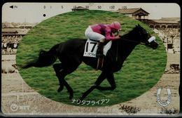 JAPAN 1990 PHONECARD HORSEBACK RIDING USED VF!! - Sport