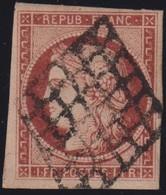 France    Yvert Et Tellier Num 6 Obl   Cote:1000 Euros - 1849-1850 Cérès
