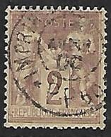 France N°  85       Oblitéré  Cachet Des Imprimés  B/ TB  Très Bien Centré  Soldé à Moins De 10 % ! - 1876-1898 Sage (Type II)