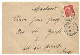 GANDON 6FR ORANGE N°721 SEUL LETTRE AUDUN LE TICHE 20.9.1946 POUR LUXEMBOURG TARIF SPECIAL RARE - 1945-54 Marianne De Gandon