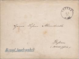 Intendanz Des Herzoglichen Hoftheaters Zu Dessau 1877 - Germania
