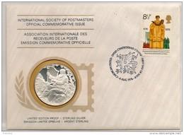 Enveloppe Avec Timbre Et Médaille En Argent 1er Titre. Royal National Eisteddfod Festival - Royaume-Uni