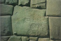 Cusco-Peru - Piedra De Los 12 Angulos (Hatun Rumiyoc) - Voyagée Vers La France , Timbre 50 Aero Télécomunications - Pérou