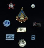 """EPINGLETTES """"ex-URSS"""" – LOT DE 09 UNITES – Années 90/95 – Origine Ex-URSS – PORT INCLUS - Jetons & Médailles"""