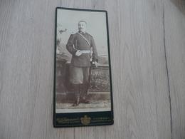 Photo Guerre Militaire Cabinet 10 X 21 Environs Bulgarie Offcier Nommé Au Dos + Autographe Petroff - Krieg, Militär
