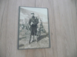 Photo Guerre Militaire Sur Carton 11.8 X 17.2 Soldats En Manœuvre Montagne  Armes - Krieg, Militär