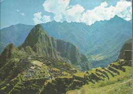 "Machupicchu - Peru - Voyagée Vers La France, Timbre ""Oro Del Peru"" Surchargé 80.00 - Pérou"