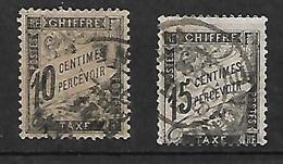 France  Taxe   N° 15  Et 16  Oblitérés  B/TB     Soldé     Le Moins Cher Du Site ! ! ! - 1859-1955 Used