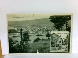 AK Faulbach Am Main. Ortsansicht, Panorama Blick über Den Main, Gasthaus Zur Krone, Gebäudeansicht - Allemagne