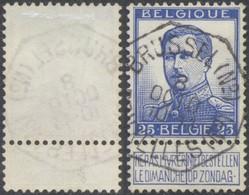 """Pellens - N°124 Obl Télégraphique """"Brussel (N°) / Bruxelles (Nd)"""" - 1912 Pellens"""