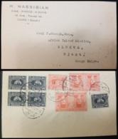 G)1938 EGYPT, KING FAUD B4, KING FAROUK, CIRCULATED COVER TO BELGIUM CONGO, XF - Egypt
