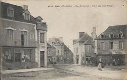 Carte Postale Ancienne De Guer (56 )la Rue Saint Gurval - Guer Coetquidan