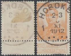 "Pellens - N°116 Obl Simple Cercle ""Hoboken 1"" (T4 R). Superbe / COBA : 80+ - 1912 Pellens"