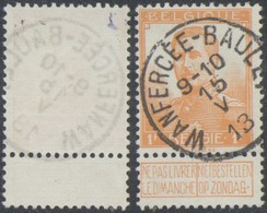 """Pellens - N°116 Obl Simple Cercle """"Wanfercée - Baulet"""". Superbe ! - 1912 Pellens"""