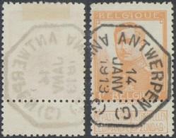 """Pellens - N°116 Obl Télégraphique (Bilingue) """"Antwerpen (C.) / Anvers (C)"""" - 1912 Pellens"""