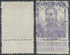 """Pellens - N°117 Obl Télégraphique """"Brugge (C.) / Bruges (C.)"""" - 1912 Pellens"""