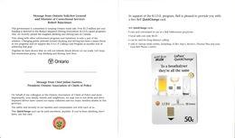 CANADA TÉLÉCARTE PHONECARD CHIP CARD CAMPAGNE PRÉVENTION CONDUITE SANS ALCOOL ADDICTION 1999 QUICK CHANGE BELL + SUPPORT - Canada