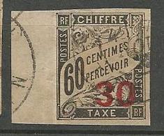INDOCHINE  TAXE N° 4 OBL - Indochina (1889-1945)
