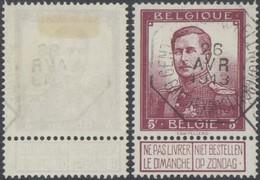 "Pellens - N°122 Obl Télégraphique (Bilingue) ""Gent (Tentoonsteling) / Gand (expositon)"". TB - 1912 Pellens"