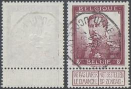 """Pellens - N°122 Obl Télégraphique (Bilingue) """"Ukkel (Post) / Uccle (Poste)"""". TB - 1912 Pellens"""