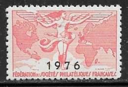 Vignettes Fédération Des Sociétés Philatéliques Françaises 1976 - ** - Erinnophilie