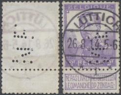 """Pellens - N°117 + Perforation De Firme Et Cachet Allemand """"Luttich"""" - 1912 Pellens"""