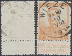 "Pellens - N°116 Obl Simple Cercle ""Wieze"". COBA : 15 / Guerre 14-18 - 1912 Pellens"
