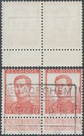 """Pellens - N°123 En Paire + Cachet Chemin De Fer """"Staceghem"""" (Stasegem, Harelbeke, 1914). Superbe - 1912 Pellens"""