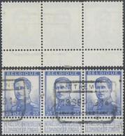"""Pellens - N°125 En Bande De 3 + Cachet Chemin De Fer """"Pitthem N°1"""" (1914) - 1912 Pellens"""