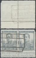 """Pellens - N°115 En Paire + Cachet Chemin De Fer """"Zedelghem N°1"""" (1914) / Guerre 14-18, Territoire Non Envahi - 1912 Pellens"""