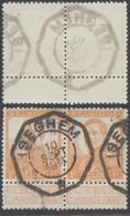 """Pellens - N°116 En Paire Obl Télégrapique """"Iseghem"""" - 1912 Pellens"""
