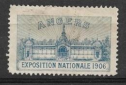 Vignette Exposition  Nationale  Angers 1906   Neuf ( * )   B/  TB Soldé Le Moins Cher Du Site ! ! ! - Tourisme (Vignettes)