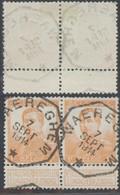 """Pellens - N°116 En Paire Obl Télégrapique """"Waereghem"""" - 1912 Pellens"""