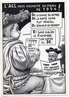 VEYRI  BERNARD  CAHORS  20éme SALON 1994  L ACL VOUS SOUHAITE AU MENU LEURS MEILLEURS VOEUX - Veyri, Bernard