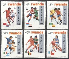 Rwanda - 1371/1376 - Coupe Du Monde Italia 90 - Buzin - 1990 - MNH - Rwanda