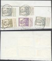 """Pellens - N°115x3 , 117 Et 119 Sur Fragment De Borderau Obl Simple Cercle """"Vollezeele"""" - 1912 Pellens"""