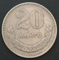 MONGOLIE - MONGOLIA - 20 MONGO 1970 - KM 32 - Mongolia