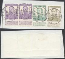 """Pellens - N°117x2, 119 Et 121 Sur Fragment De Borderau Obl Simple Cercle """"Evere"""" - 1912 Pellens"""