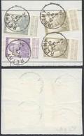 """Pellens - N°112 X2, 115 Et 117 Sur Fragment De Borderau Obl Simple Cercle """"Rethy"""" - 1912 Pellens"""