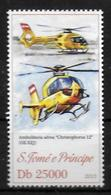 SAINT THOMAS ET PRINCE N° 4130  * *  Helicopteres De Secours - Helicopters